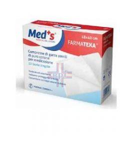 GARZA COMPRESSA MEDS FARMATEXA 12/8 18X40CM 12 PEZZI