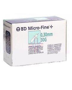 LANCETTE PUNGIDITO BD MICROFINE+ PER OPTIMUS GAUGE 30 50 PEZZI