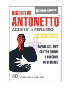 DIGESTIVO ANTONETTO ACIDITA' E REFLUSSO CREMA AL LIMONE 40 COMPRESSE MASTICABILI
