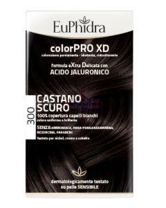 EUPHIDRA COLORPRO XD 300 CASTANO SCURO GEL COLORANTE CAPELLIIN FLACONE + ATTIVANTE + BALSAMO + GUANTI