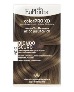 EUPHIDRA COLORPRO XD 600 BIONDO SCURO GEL COLORANTE CAPELLIIN FLACONE + ATTIVANTE + BALSAMO + GUANTI