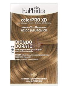 EUPHIDRA COLORPRO XD 730 BIONDO DORATO GEL COLORANTE CAPELLIIN FLACONE + ATTIVANTE + BALSAMO + GUANTI