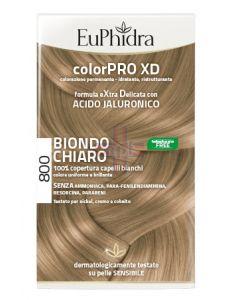 EUPHIDRA COLORPRO XD 800 BIONDO CHIARO GEL COLORANTE CAPELLIIN FLACONE + ATTIVANTE + BALSAMO + GUANTI