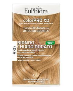 EUPHIDRA COLORPRO XD 830 BIONDO CHIARO DORATO GEL COLORANTECAPELLI IN FLACONE + ATTIVANTE + BALSAMO + GUANTI
