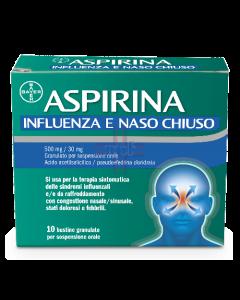 ASPIRINA INFLUENZA E NASO CHIUSO*orale 10 bust 500 mg + 30 mg