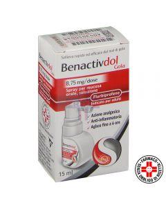 BENACTIVDOL GOLA*spray mucosa orale 15 ml 8.75 mg/dose