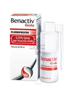 BENACTIV GOLA*spray mucosa orale 15 ml 0.25%