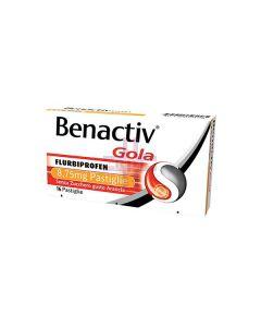 BENACTIV GOLA*16 pastiglie 8.75 mg arancia senza zucchero