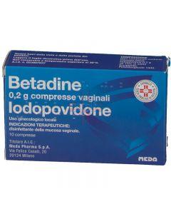 BETADINE*10 cpr vag 200 mg
