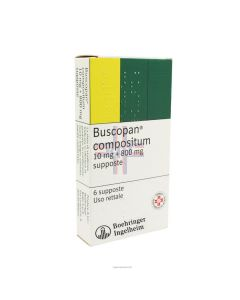 BUSCOPAN COMPOSITUM*6 supp 10 mg + 800 mg
