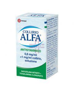 COLLIRIO ALFA ANTISTAMINICO*collirio 10 ml 8 mg/ml + 1 mg/ml
