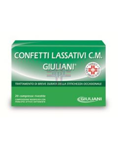 CONFETTI LASSATIVI C.M. GIULIANI*20 conf 40 mg + 60 mg + 20mg