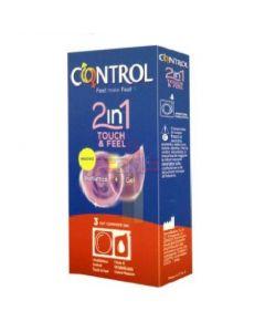 PROFILATTICO CONTROL 2IN1 TOUCH&FEEL+LUBE 3 PEZZI