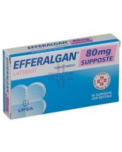EFFERALGAN*10 supp 80 mg