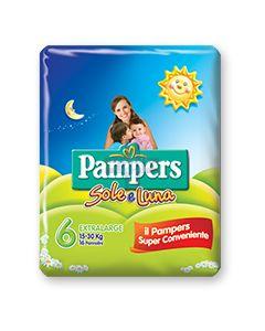 PANNOLINO PER BAMBINO PAMPERS SOLE & LUNA FLASH XL 14 PEZZI