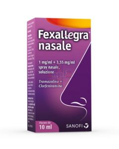 FEXALLEGRA NASALE*spray nasale 10 ml 1 mg/ml + 3.55 mg/ml