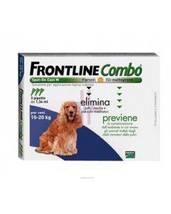 FRONTLINE COMBO SPOT ON CANI M*soluz 3 pipette 1.34 ml 134 mg + 120.6 mg cani da 10 a 20 Kg