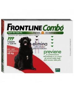 FRONTLINE COMBO SPOT-ON CANI XL*soluz 3 pipette 4.02 ml 402mg + 361.8 mg cani > 40 Kg