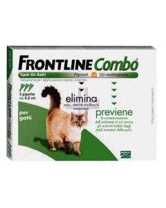 FRONTLINE COMBO SPOT ON GATTI*soluz 3 pipette 0.5 ml 50 mg +60 mg gatti e furetti