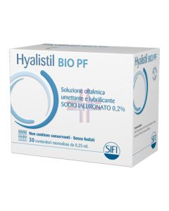 HYALISTIL BIO SOLUZIONE OFTALMICA PHOSPHATE FREE MONODOSE ABASE DI ACIDO IALURONICO 0,2% 30 FLACONCINI 0,25 ML