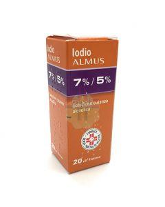 IODIO SOLUZIONE ALCOLICA I (NEW.FA.DEM.)*soluz cutanea 20 ml7% + 5%