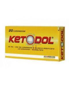 KETODOL*20 cpr 25 mg + 200 mg