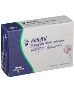 KETOFTIL*25 monod collirio 0.5 ml 0.5 mg/ml