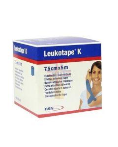 BENDA ADESIVA LEUKOTAPE K PER TAPING FISIOTERAPICO LARGHEZZA7.5 CM LUNGHEZZA 5 M COLORE BLU IN ROTOLO