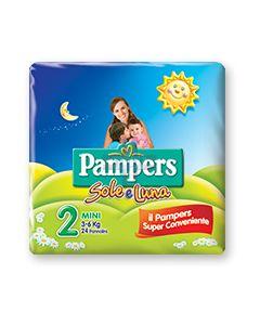 PANNOLINO PER BAMBINO PAMPERS SOLE & LUNA FLASH MINI 21 PEZZI
