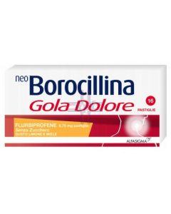 NEOBOROCILLINA GOLA DOLORE*16 pastiglie 8.75 mg limone e miele senza zucchero
