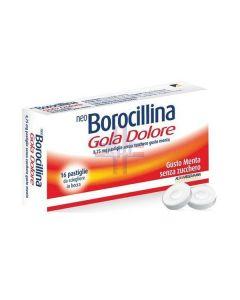 NEOBOROCILLINA GOLA DOLORE*16 pastiglie 8.75 mg menta senzazucchero