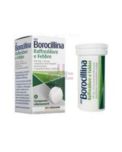 NEOBOROCILLINA RAFFREDDORE E FEBBRE*8 cpr eff 500 mg + 60 mg