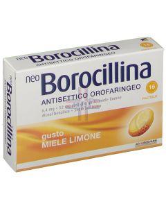 NEOBOROCILLINA ANTISETTICO OROFARINGEO*16 pastiglie 6.4 mg +52 mg limone