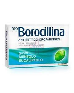NEOBOROCILLINA ANTISETTICO OROFARINGEO*16 pastiglie 6.4 mg +52 mg mentolo eucaliptolo