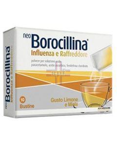 NEOBOROCILLINA INFLUENZA E RAFFREDDORE*orale polv 10 bust limone e miele