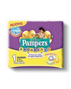 PAMPERS PROGRESSI NEWBORN PANNOLINO 1 2-5KG 28 PEZZI