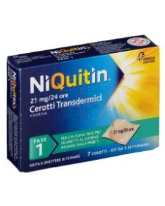 NIQUITIN*7 cerotti transd 21 mg/die