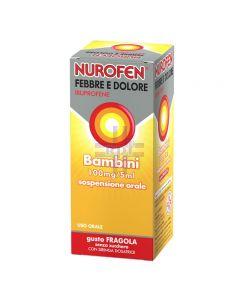 NUROFEN FEBBRE E DOLORE*BB orale sosp 150 ml 100 mg/5 ml fragola senza zucchero con siringa