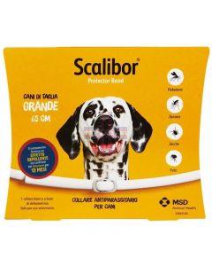SCALIBOR PROTECTOR BAND*collare antiparassitario bianco 65 cm cani taglia grande