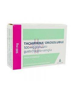 TACHIPIRINA OROSOLUBILE*12 bust grat 500 mg gusto fragola evaniglia