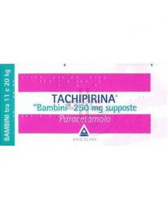 TACHIPIRINA*BB 10 supp 250 mg